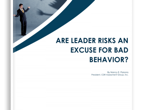 Are Leader Risks an Excuse for Bad Behavior?