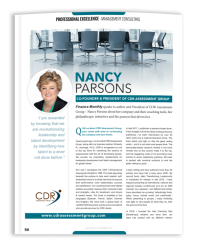 Finance Monthly Interview with Nancy Parsons
