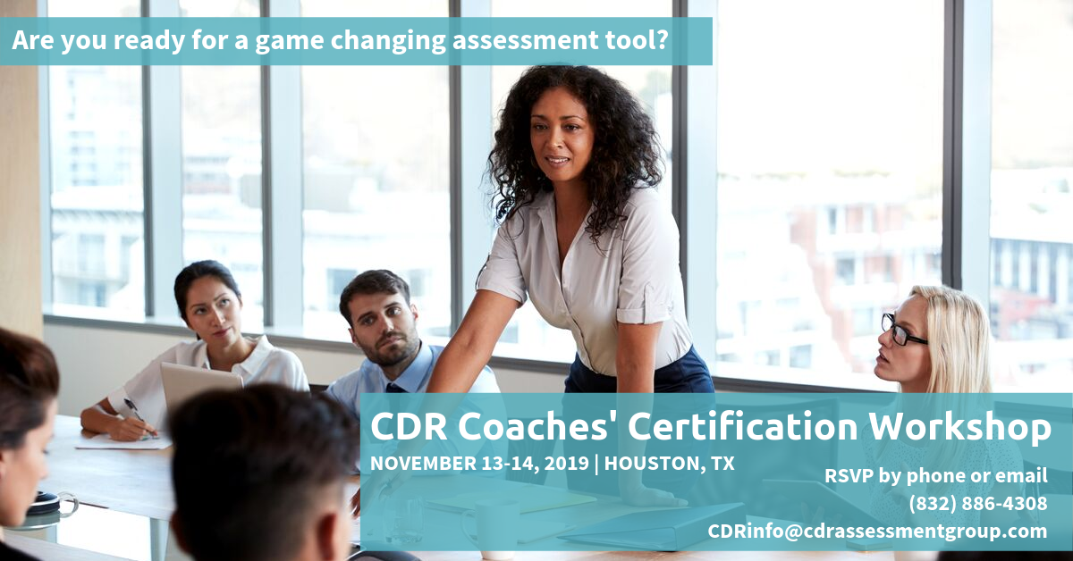 CDR Coaches Certification